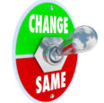 change vs same