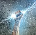 hand holding lightning